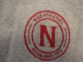 Nike Athletics Established in 1972 Sports Gray Cotton T Shirt Size XL - $21.28