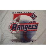 Vintage MLB Texas Rangers Baseball Logo 7 Sports Fan Apparel T Shirt Siz... - $23.26