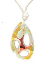 Silk Necklace With Swarovski Crystal Element Blue - $684,70 MXN