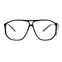 Unisex Fashion Clear Lens Glasses Oversized Square Angled Plastic Frame - $9.95