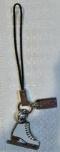 Coach Ice Skate Winter Phone Lanyard Handbag Charm Enamel Silver Hardwar... - $22.00
