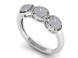 Solid Handmade Jewelry Rainbow Moonstone Gemstone 925 Silver Ring Sz7.5 ... - £11.50 GBP