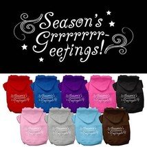 SEASONS GREETINGS Dog Hoodie Sweatshirt * Merry Christmas Puppy Love Pet... - €14,05 EUR+