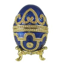 Royal Blue Faberge Egg Trinket Box - $24.00