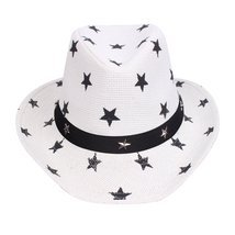 Western Style Shapeable Cowboy Hat - USA, Patriotic Stars White - $9.99
