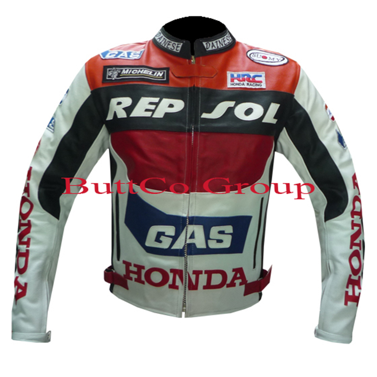 NEW HONDA GAS REPSOL REAL LEATHER MOTORCYCLE MOTORBIKE ...