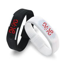 2016 Candy Color Men's Women's Watch Rubber LED kids Watches Date Bracel... - $3.99