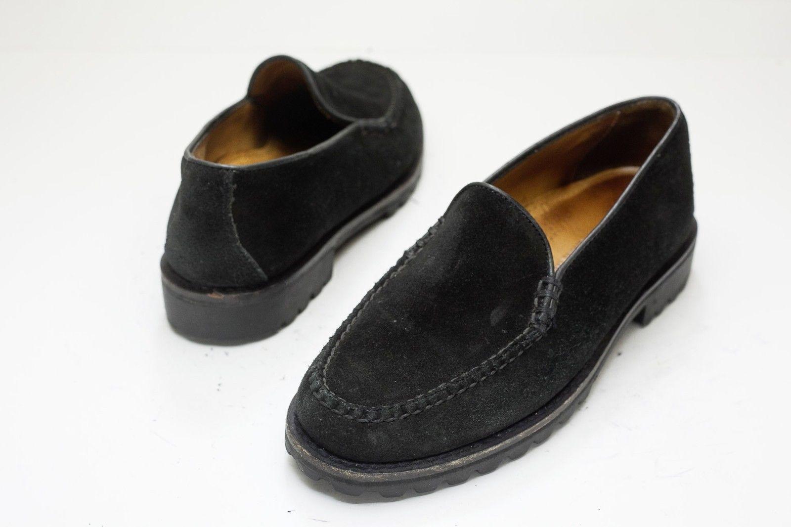 Cole Haan 6 Black Suede Slip On Loafer Women's