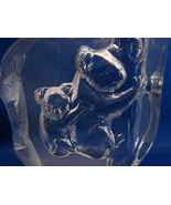 Crystal Koala Bear Paperweight Plaque  by Cristal d' Arques France - $14.99