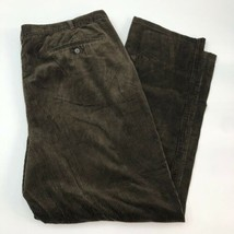 Eddie Bauer Pants Mens 48 Brown Straight Leg 100% Cotton Corduroy Slash ... - $18.95