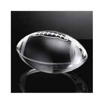 Large Football paperweight Glass Oleg Cassini in box sports gift for dad... - $75.00