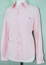 CHICO'S Blouse Button Down Dress Shirt Long Sleeve LIGHT PINK Size 1 (Me... - $29.21