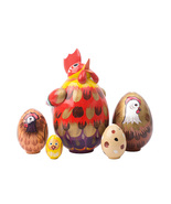 """Rooster Nesting Egg - 4"""" w/ 5 Pieces - $54.00"""