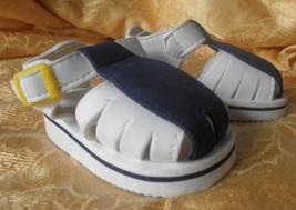 baby sandals unisex white blue size 3-9 months nwot - $14.62