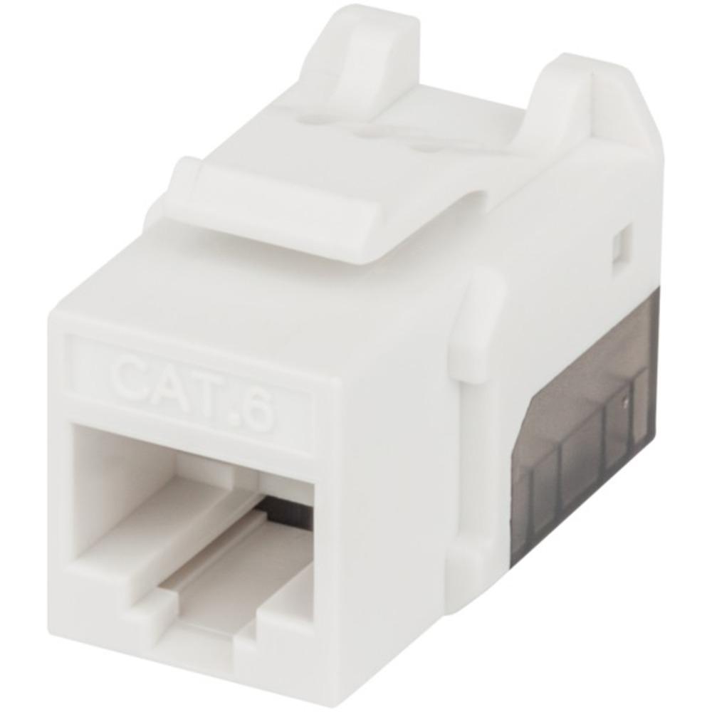 INTELLINET NETWORK SOLUTIONS(R) 772310 FastPunch CAT-6 UTP Keystone Jack (White) - $10.84