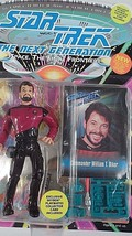 MIB 1993 Playmates Star Trek TNG Next Generation William Riker Action Figure - $7.08
