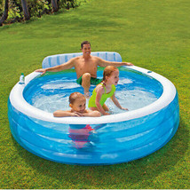 Intex Swim Center Family Inflatable Lounge Pool, 88 x 85 x 30 - $48.93