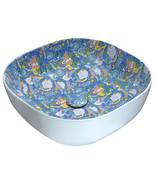 Byzantian Series Ceramic Vessel Sink in Mosaic Blue - $175.01