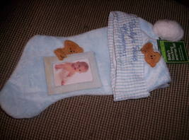BABYS 1FT. CHRISTMAS - sock plus cap and picture frame - $18.00