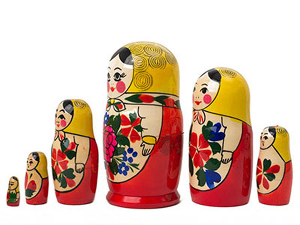 "Semenov Nesting Doll - 5"" w/ 6 Pieces"
