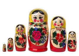 "Semenov Nesting Doll - 5"" w/ 6 Pieces - $19.00"