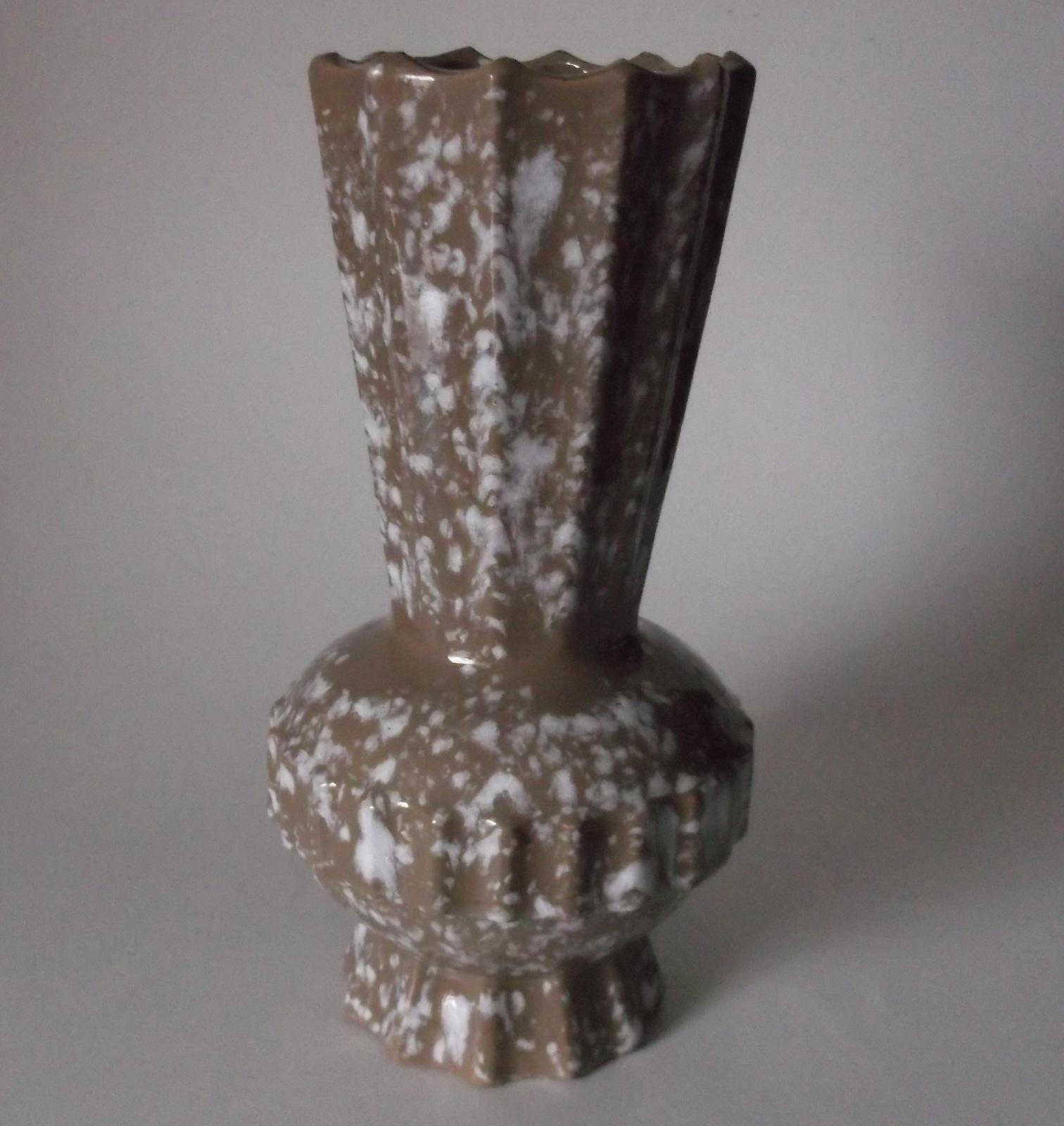 Mid century modern vase vintage brown white and 11 similar items reviewsmspy