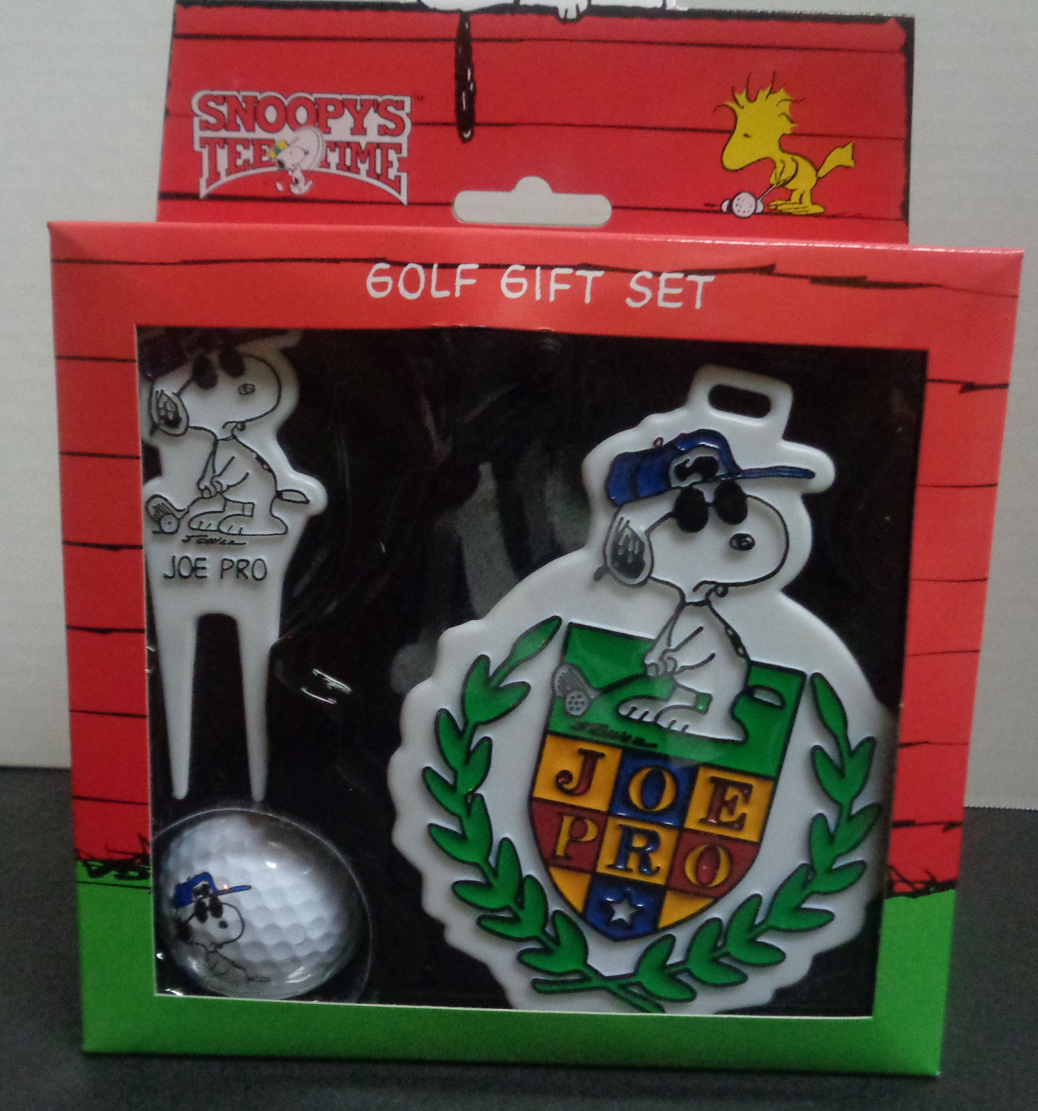 Peanuts Snoopy JOE PRO Golf Ball Bag Tag AND Divot Tool Gift Set NEW IN BOX