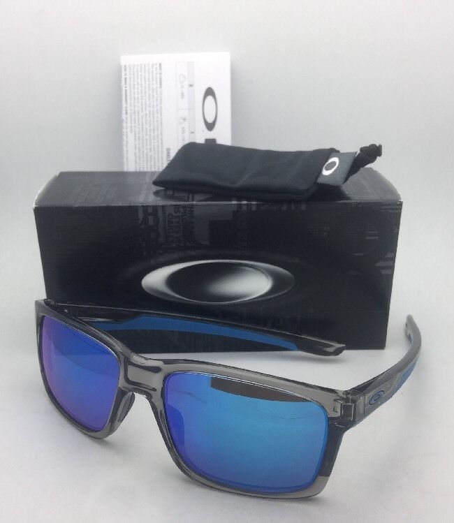 04de9554948 S l1600. S l1600. Previous. New OAKLEY Sunglasses MAINLINK OO9264-03 Grey  Ink-Blue Frame w  Sapphire Iridium