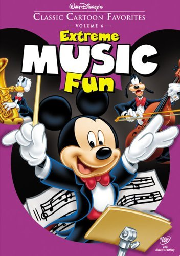 Disney Classic Cartoon Favorites - Volume 6: Extreme Music Fun (DVD, 2005)