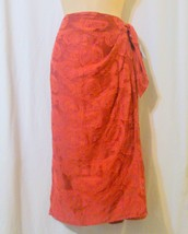 Talbots Petites Textured Rust Colored Wrap Skirt Size 4P - $10.00