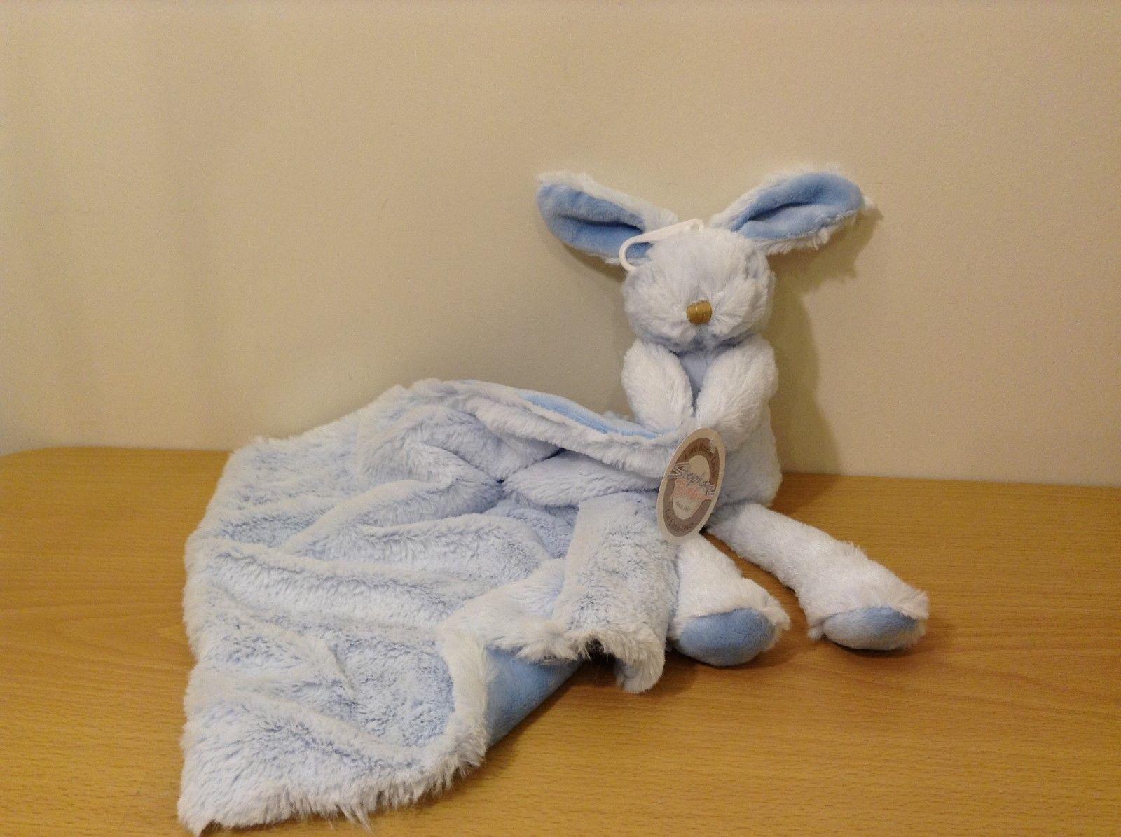 NEW Stephan Baby Blue Little Lovie Bunny w Blanket