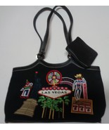 Las Vegas Nevada Casino Party Purse Black W/Las Vegas Images - $14.99