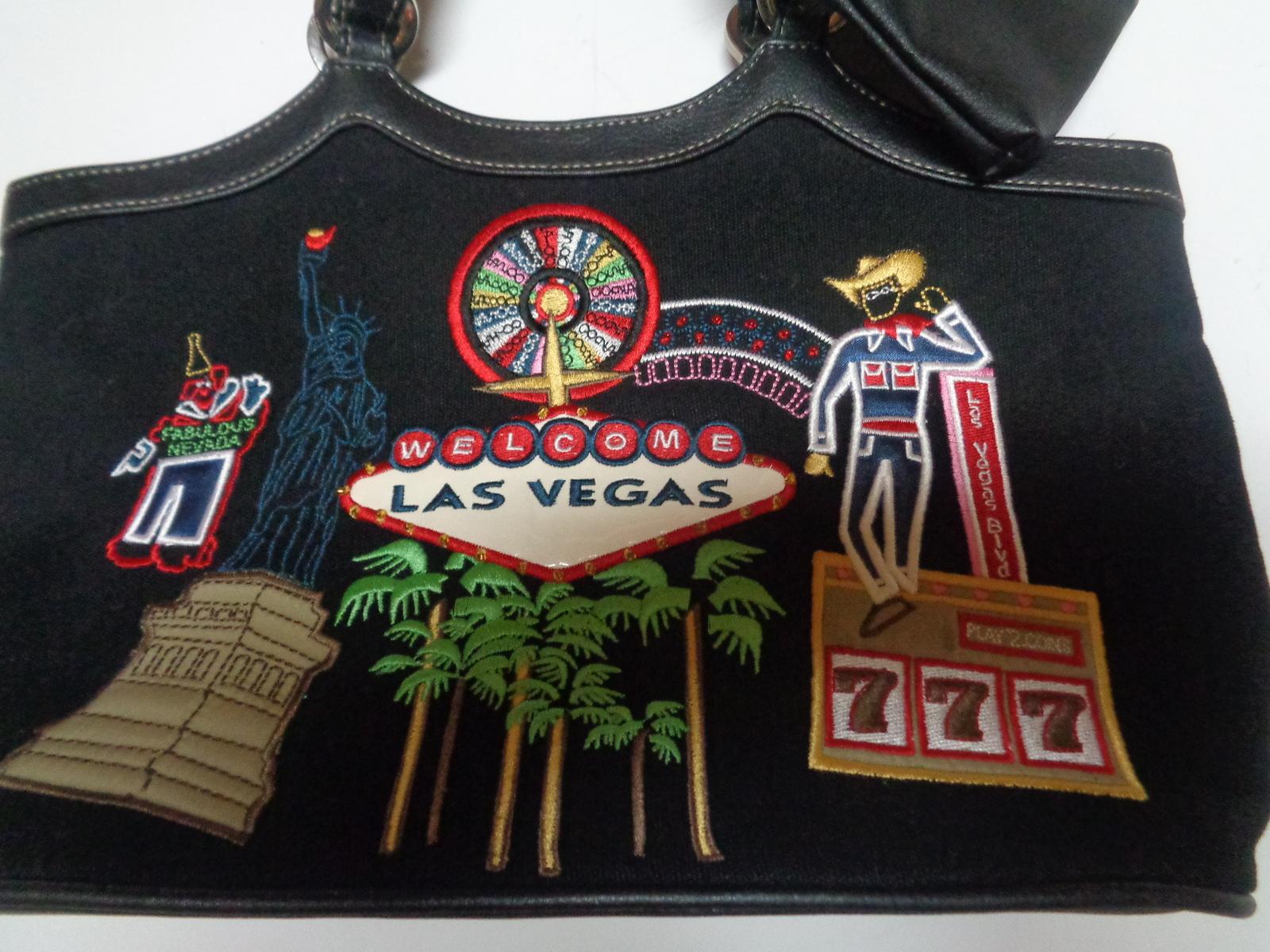 Las Vegas Nevada Casino Party Purse Black W/Las Vegas Images