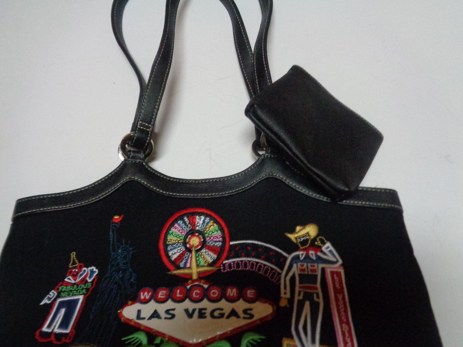 Las Vegas Nevada Casino Party Purse Black W/Las Vegas Images