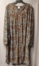 NEW WOMENS PLUS SIZE 4X LEOPARD PRINT SNAPFRONT DUSTER HOUSE BATH ROBE W... - $21.28