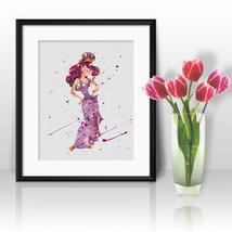 Megara Hercules Disney Print Printable Watercolor Art poster Painting nu... - $1.75