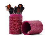 New Professional 16 Pcs Cosmetics Makeup Brush Set With Cup Holder IS-CH16 PUR