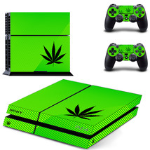 Cannabis Weed Leaf Green Stripe PS4 Console Controllers Skin Decals - $19.99