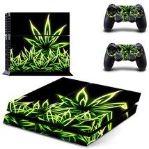 Marijuana Weed Luminous Leaf Black Background PS4 Console Controllers Skin - $19.99