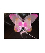 1 Set Pink Butterfly Wing Child Fairy Wings Costume. - $12.87