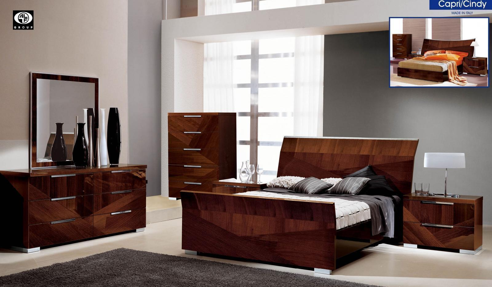ESF Dupen Furniture ALF Capri Bedroom Set King Contemporary Italy 3pcs