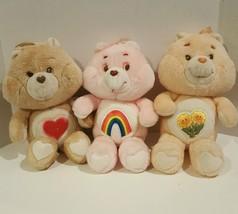 "Vintage 13"" Original Care Bears  Friend Bear Cheer Bear Heart Bear Plush... - $29.69"