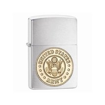 Zippo U.S. Army Emblem Brushed Chrome Lighter - $39.66