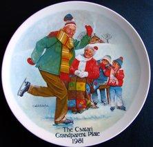 """The Csatari Grandparent Plate 1981, """"The Skating Lesson"""" - $9.80"""