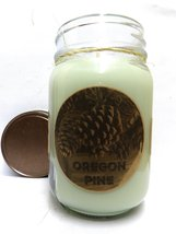 Oregon Pine 16oz Country Jar All Natural Soy Candle - Approximate Burn T... - $13.99
