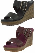 TIMBERLAND SAMPLE WOMEN'S BRENTON BUCKLE SLIDEWEDGE SANDALS US 7 EU 38 - $59.99