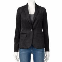 Apt 9 Black Velvet Tuxedo Blazer Jacket-Holiday womens New Dress Jacket ... - $24.70