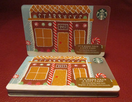 Lot of 9 Starbucks 2016 Peppermint Gingerbread 1912 Pike Gift Cards New w/ Tags - $15.30