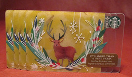 Lot of 4 Starbucks 2016 Reindeer Gift Cards New with Tags - $7.10
