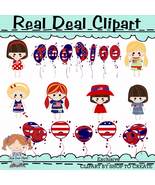 American Dolly Exclusive Clipart - $1.25